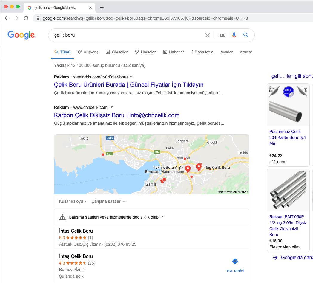 Google Haritalara Firma Kaydet